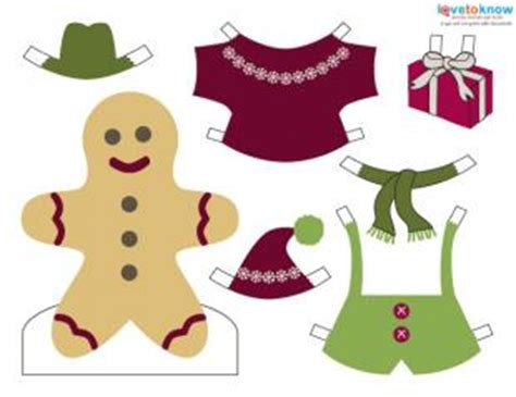 printable gingerbread man clothes printable christmas paper dolls lovetoknow
