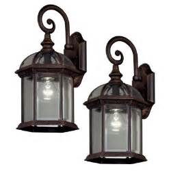 home depot outdoor lights hton bay pack 1 light weathered bronze outdoor