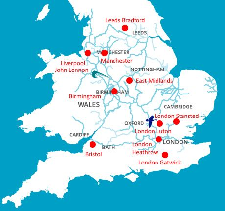 map uk international airports the blue riband club advice for overseas visitors
