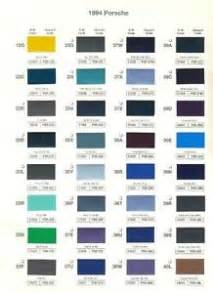 1994 porsche paint color sample chips card oem colors