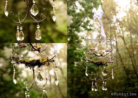 Diy Forest Chandelier Beautiful Diy Chicken Wire Chandelier Beautiful Hummingbirds And Hanging Flower Pots