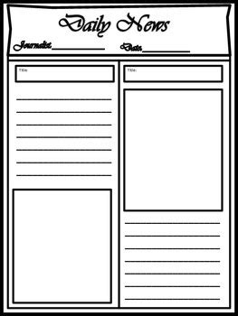 newspaper layout dummy blank newspaper template for multi uses by kim cherry tpt