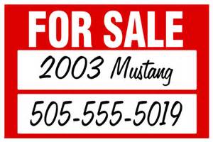 car for sale sign template car for sale by owner decal signazon