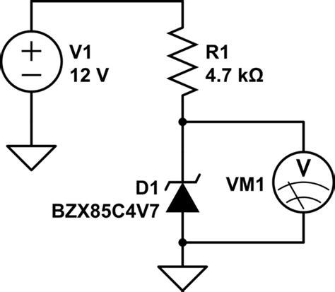 low current diode zener zener diode voltage low electrical engineering stack exchange