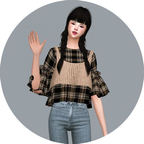 Crop Top Blouse Cc sims4 marigold idol crop top sims 4 downloads