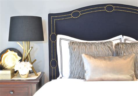navy blue upholstered bed upholstered headboard king queen full twin size navy blue