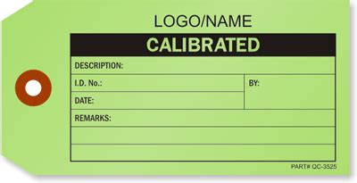 Calibration Tags Buy Inspection Tag With Customizable Templates Calibration Label Template