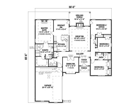 1 Story House Floor Plans by Single Story House Plans Design Interior