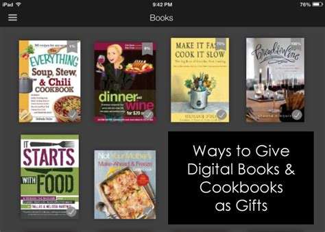 is for cooks a gift book books 3 ways to give digital cookbooks as gifts