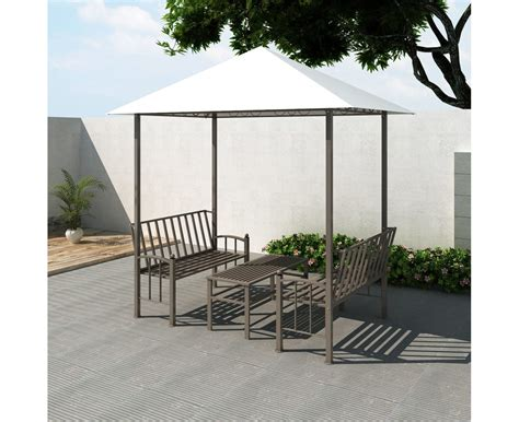 pavillon 2 5x2 5 garden pavilion with table and benches 2 5x1 5x2 4 m