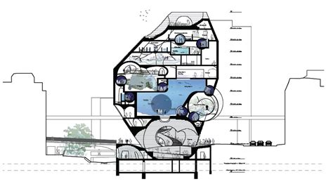 Zoo Section by Architecture Photography Zoo Basel Ozeanium 2nd Prize