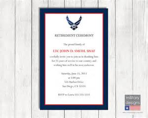 army retirement program template air retirement ceremony invitation printable us air