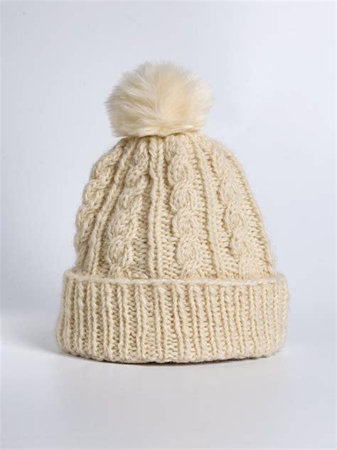 bobble knit hat aran knit bobble hat christian