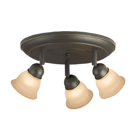 Shop Portfolio Villa 3 Light 9 84 In Aged Bronze Dimmable Light At