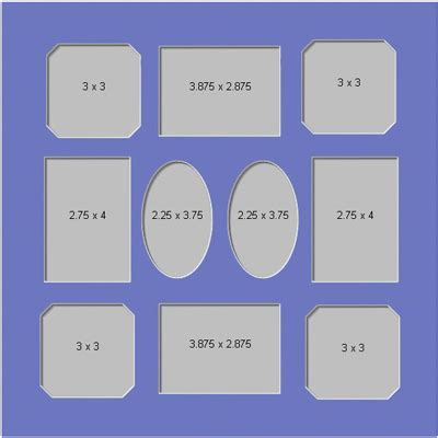 10 X 14 Picture Mat - gallery and collage mats collage mats 14x14 collage