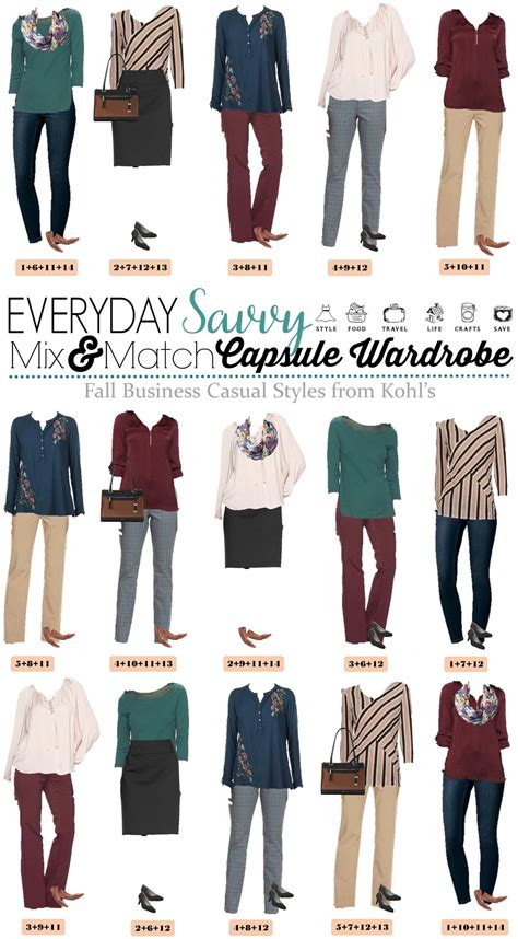 kohls business casual capsule wardrobe  fall