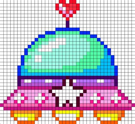 kawaii perler bead patterns ufo perler bead pattern bead sprites misc fuse
