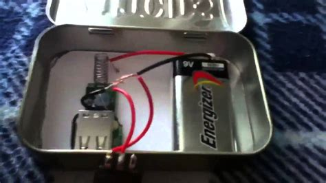 how to make a portable phone charger altoids portable charger