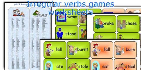 printable games irregular verbs english teaching worksheets irregular verbs games
