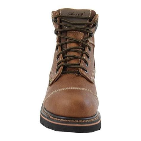 comfortable lightweight mens work boots shoes men s adtec 9186 comfort work boots 6in light brown
