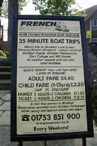 french brothers boat trips windsor french brothers ltd boat trips sign 169 rebecca and