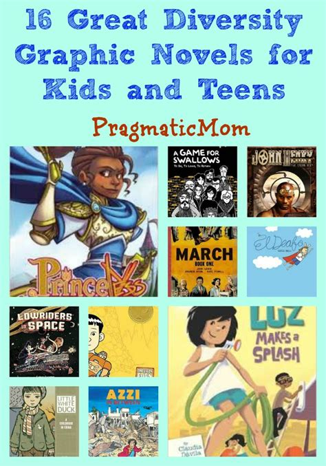 27 best images about graphic novels for kids 16 great diversity graphic novels for kids and teens pragmaticmom