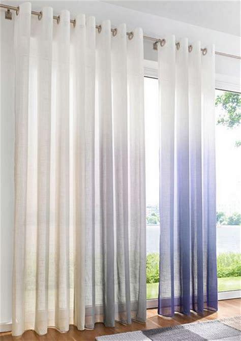 vorhang halbtransparent 1 st gardine 135 x 245 wei 223 grau farbverlauf 214 sen vorhang