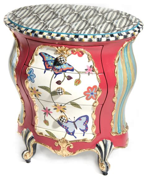 Mackenzie Childs Furniture by Butterfly Accent Chest Mackenzie Childs Eclectic