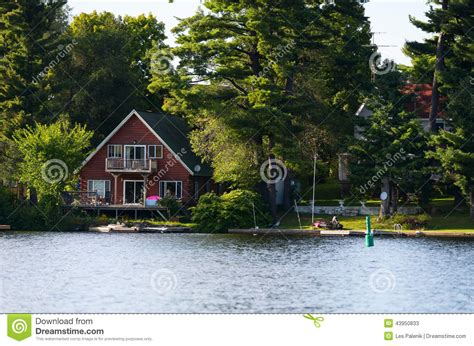 cottage at the lake stock photo image 43950833
