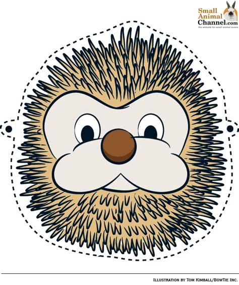 free printable hedgehog mask template critter halloween masks