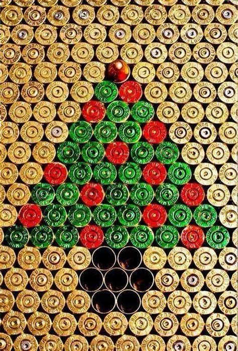 Hunting Christmas Decorations by Empty Shell Casing Christmas Art Outdoors Gun Stuff