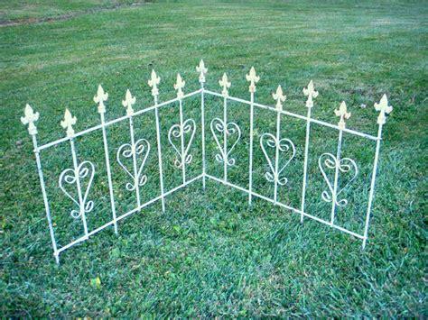 Wrought Iron Garden Fence by Wrought Iron Garden Edging Fence
