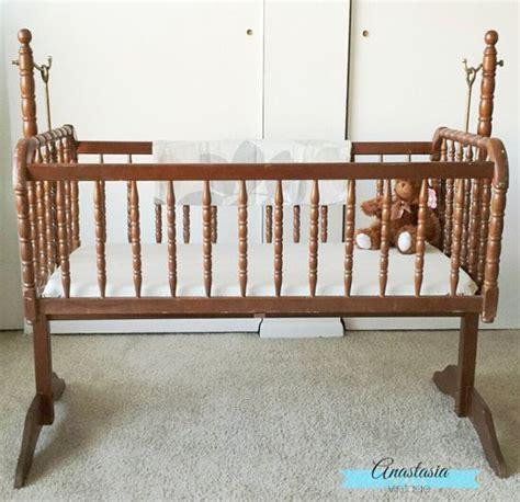 swinging bassinet cradle vintage jenny lind swinging cradle bassinet with stand
