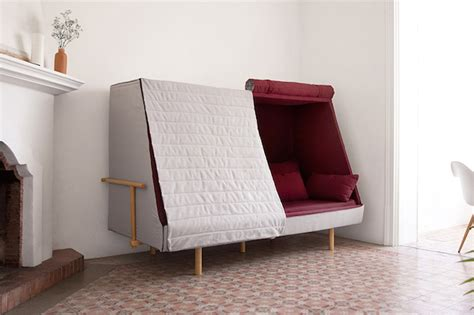 bed that turns into a couch a sofa that can turns into a bed and a cabin fubiz media