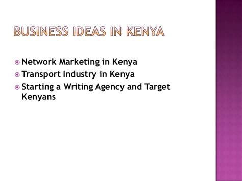 List Of Small Home Business Ideas Business Ideas For In Kenya Business Ideas For