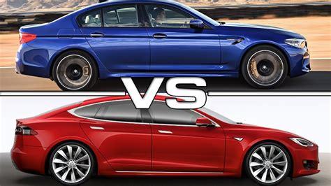 Tesla Vs M5 by 2018 Bmw M5 Xdrive Vs 2017 Tesla Model S P100d