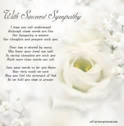 with sincerest sympathy i you will greeting cards sympathy memories