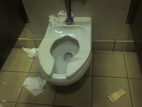 toilet paper on public toilet seat next time you use a public washroom do not cover the