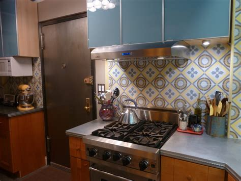 cement tile backsplash cement tile backsplash makes a chelsea kitchen remodel