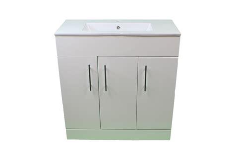 Shower Vanity Units by Bathroom Cloakroom 800 White Vanity Unit 3 Door Modern