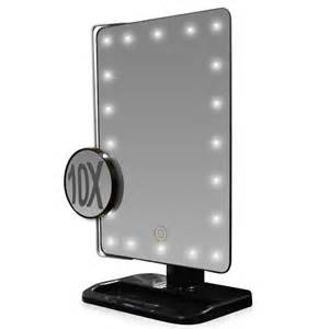 Makeup Mirror With Lights And Magnification L E D Lighted Movable 10x Magnification Vanity Mirror