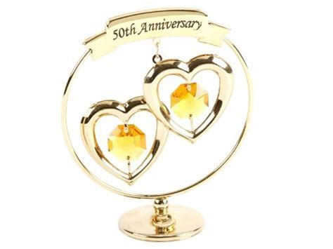 Crystocraft   50th Golden Wedding Anniversary Gold Ring