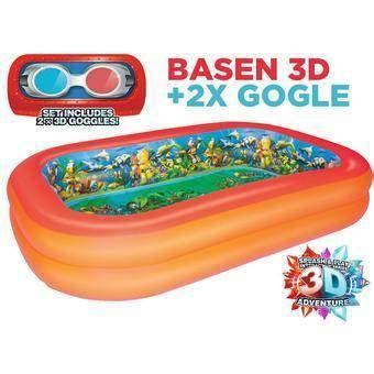 Kacamata Renang 3d Anak Dan Dewasa G1100m kolam renang anak 3d adventure bestway