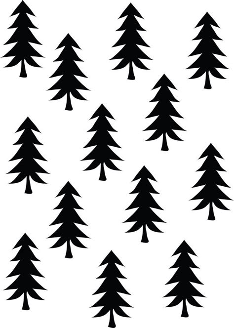 Black And White Tree Pattern | zwart en wit papiergoed gratis download prints