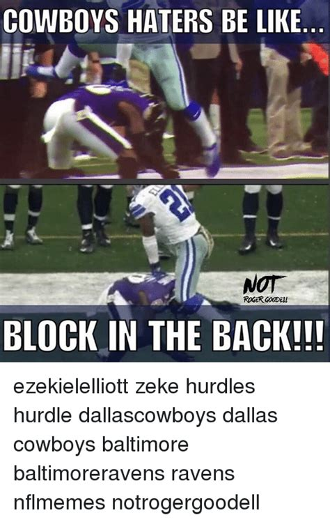 Cowboys Haters Memes - cowboys haters be like not block in the back
