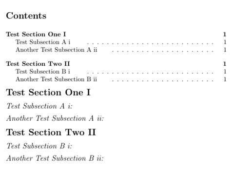 sub section titlesec move sub section number right of sub section
