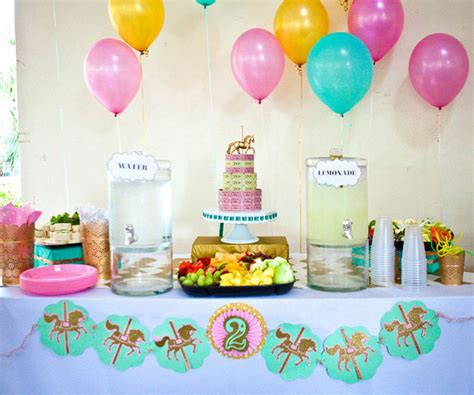 Simple Balloon Decoration Ideas At Home by Kara S Party Ideas Carousel Cupcake Themed Birthday Party