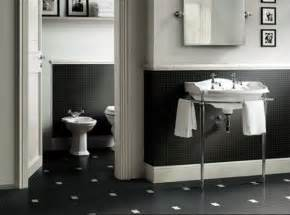 Black And White Bathroom Tile Design Ideas Black White Bathroom Tiles 2017 Grasscloth Wallpaper
