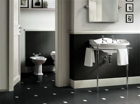 Black And White Tiled Bathroom Ideas by Black White Bathroom Tiles 2017 Grasscloth Wallpaper