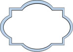 baby blue border frame clip art at clker com vector clip